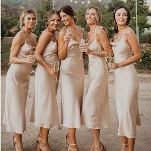 Verona Cowl Champagne Dress